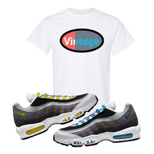 Air Max 95 QS Greedy T Shirt | White, Vintage Oval