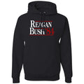 Standard Issue Reagan Bush '84 Black Pullover Grunt Life Hoodie