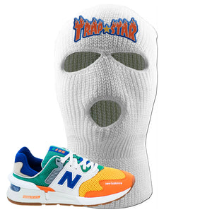 997S Multicolor Sneaker White Ski Mask | Winter Mask to match New Balance 997S Multicolor Shoes | Trap Star