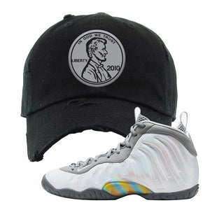 Lil Posite One Rainbow Pixel Distressed Dad Hat | Black, Penny