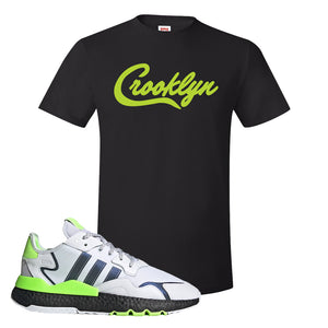 Nite Jogger Signal Green T Shirt | Black, Crooklyn