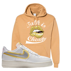 Air Force 1 Low 07 LX White Gold Hoodie | Talk Is Cheap, Old Gold