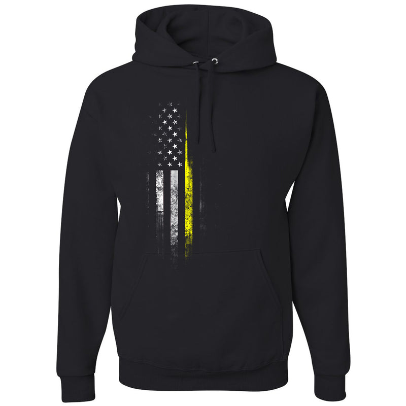 Standard Issue Yellow Lives Matter Distressed Black Pullover Grunt Life Hoodie