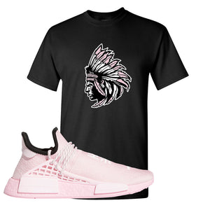 NMD Hu Tonal Pink T Shirt | Indian Chief, Black