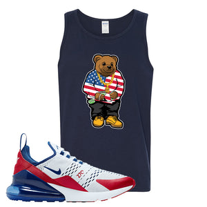 Air Max 270 USA Tank Top | Navy Blue, Sweater Bear