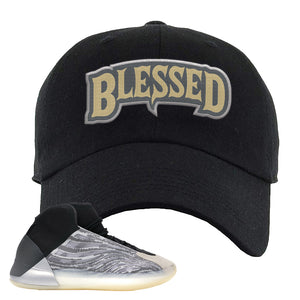 Yeezy Quantum Dad Hat | Black, Blessed Arch