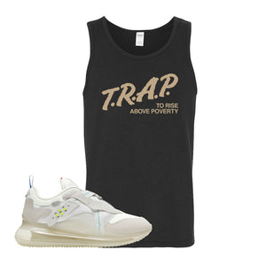 Air Max 720 OBJ Slip White Tank Top | Black, Trap To Rise Above Poverty
