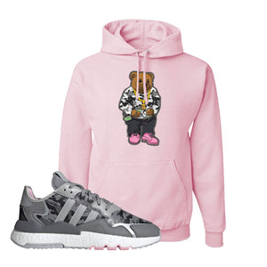 WMNS Nite Jogger True Pink Camo Hoodie | Classic Pink, Sweater Bear