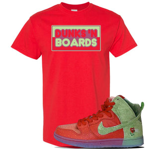 SB Dunk High 'Strawberry Cough' T Shirt | Red, Dunks N Boards