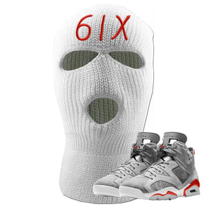 Jordan 6 Neutral Grey Ski Mask | White, 6IX