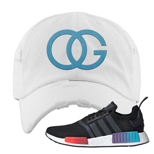 NMD R1 Gradient Distressed Dad Hat | White, OG