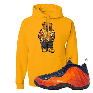 Foamposite One OKC Hoodie | Gold, Sweater Bear