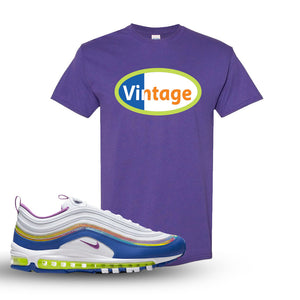Air Max 97 'Easter' Sneaker Lilac T Shirt | Tees to match Nike Air Max 97 'Easter'Shoes | Vintage Oval