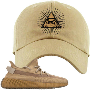 Yeezy Boost 350 V2 Earth Sneaker Dad Hat To Match | All Seeing Eye, Khaki