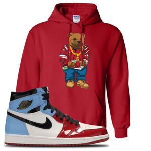 Air Jordan 1 Fearless Sweater Bear Red Made to Match Pullover Hoodie