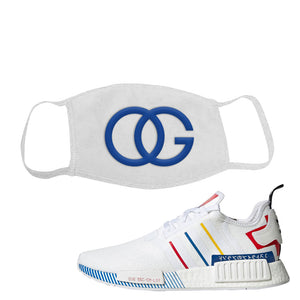 NMD R1 Olympic Pack Face Mask | White, OG