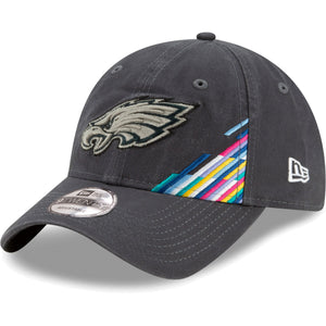 The Philadelphia Eagles 2019 Crucial Catch Dad Hat | 9Twenty Sideline On Field Birds Baseball Cap features a soft unstructured crown and a curved bill.