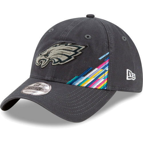 The Philadelphia Eagles 2019 Crucial Catch Sideline 9Twenty Dad Hat from New Era features a soft unstructured crown and a curved bill.