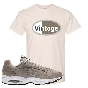 Air Max Triax 96 Grey Suede T Shirt | Vintage Oval, Natural