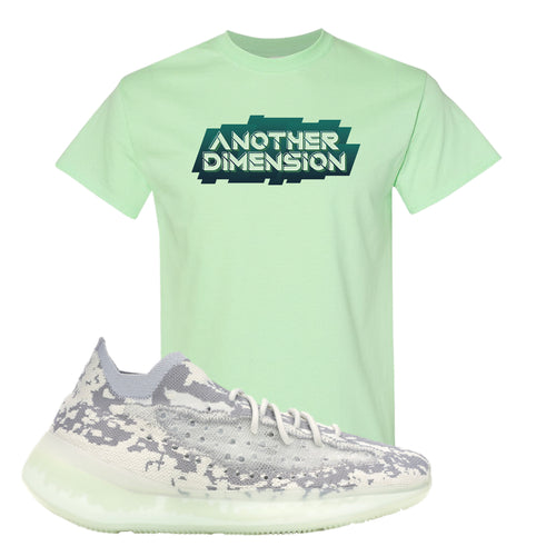 Yeezy Boost 380 Alien Another Dimension Mint Green Sneaker Matching T-Shirt
