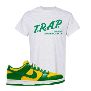 SB Dunk Low Brazil  T Shirt | Ash, Trap To Rise Above Poverty