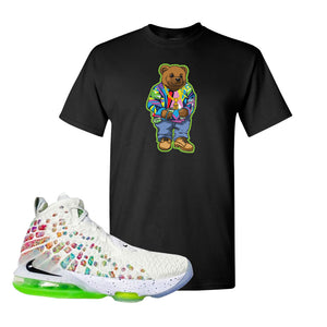 Lebron 17 Air Command Force T Shirt | Black, Sweater Bear