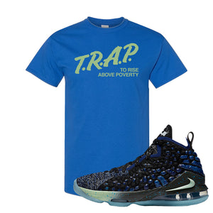 LeBron 17 Constellations T Shirt | Trap To Rise Above Poverty, Royal Blue