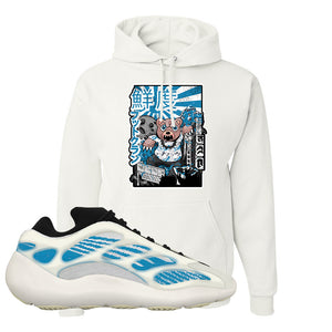 Yeezy 700 V3 Kyanite Hoodie | Attack Of The Bear, White