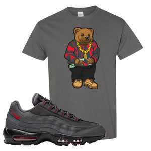 Air Max 95 Dark Gray and Red T Shirt | Sweater Bear, Charcoal