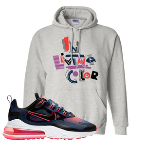 Air Max 270 React WMNS Storm Pink Pullover Hoodie | In Living Colors, Ash