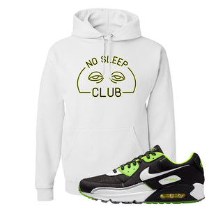 Air Max 90 Exeter Edition Black Hoodie | No Sleep Club, White