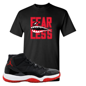Jordan 11 Bred Fearless Black Sneaker Hook Up T-Shirt