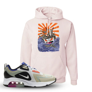 Air Max 200 WMNS Fossil Sneaker Classic Pink Pullover Hoodie | Hoodie to match Nike Air Max 200 WMNS Fossil Shoes | Ramen Monster