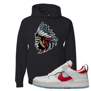 Dunk Low Disrupt Gym Red Hoodie | Indian Chief, Black