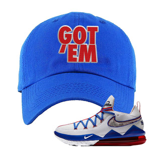 LeBron 17 Low Tune Squad Sneaker Royal Blue Dad Hat | Hat to match Nike LeBron 17 Low Tune Squad Shoes | Got Em