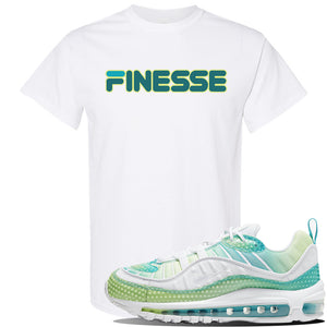WMNS Air Max 98 Bubble Pack Sneaker White T Shirt | Tees to match Nike WMNS Air Max 98 Bubble Pack Shoes | Finesse