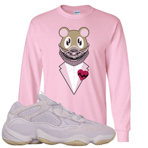 Yeezy 500 Soft Vision Yeezy Sneaker Mask Classic Pink Sneaker Hook Up Longsleeve T-Shirt