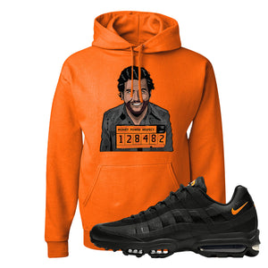 Air Max 95 Ultra Spooky Halloween Pullover Hoodie | Escobar Illustration, Safety Orange