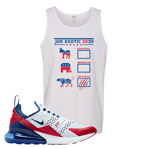 Air Max 270 USA Tank Top | White, Exotic Ballot