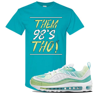 WMNS Air Max 98 Bubble Pack Sneaker Tropical Blue T Shirt | Tees to match Nike WMNS Air Max 98 Bubble Pack Shoes | Them 98's Tho