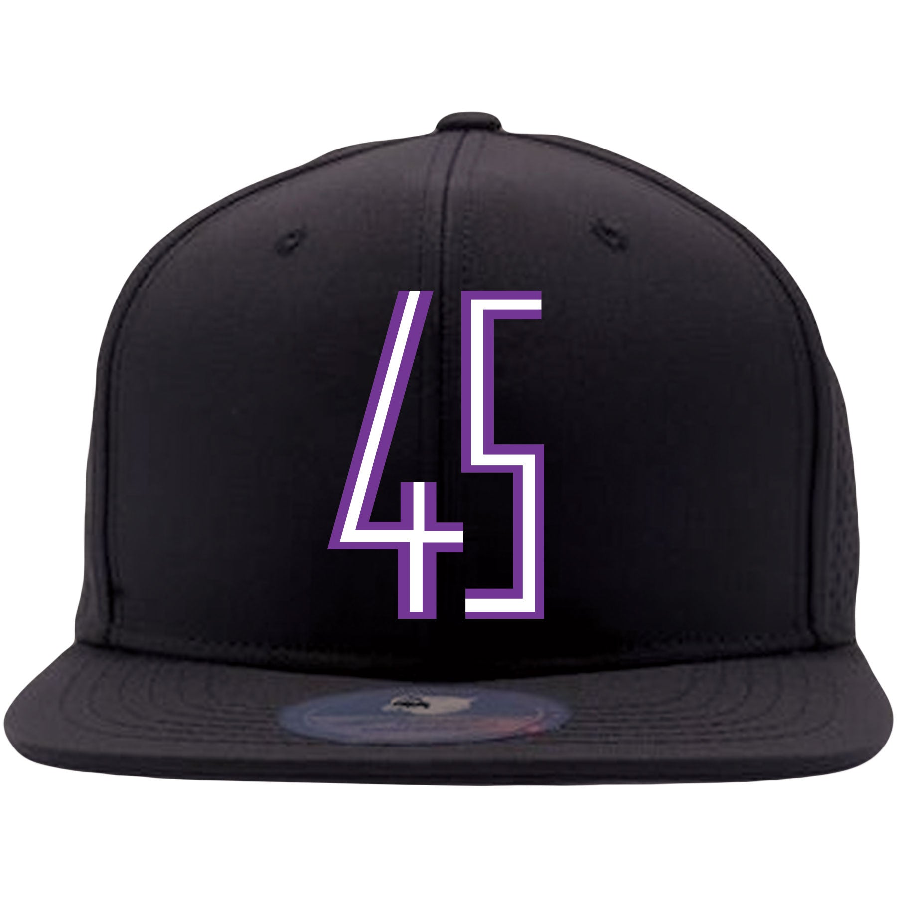 3cf1d290f54 ... Embroidered on the front of the Jordan 11 Concord 45 sneaker matching snapback  hat is the ...