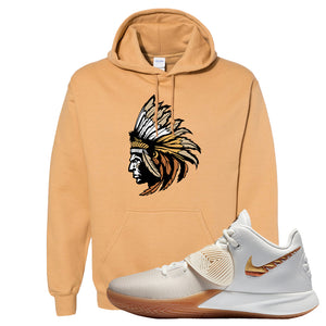 Kyrie Flytrap 3 Summit White Hoodie | Indian Chief, Old Gold