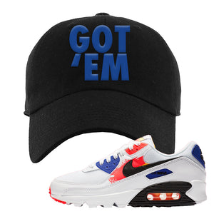 Air Max 90 Paint Streaks Dad Hat | Got Em, Black
