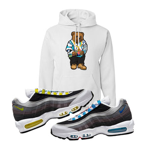 Air Max 95 QS Greedy Hoodie | White, Sweater Bear