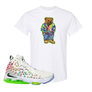 Lebron 17 Air Command Force T Shirt | Sweater Bear, White