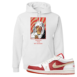 Air Jordan 1 Low Spades Hoodie | God Told Me, White
