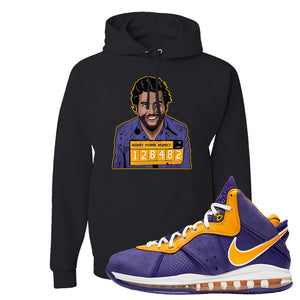 Lebron 8 Lakers Hoodie | Escobar Illustration, Black