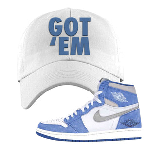 Air Jordan 1 High Hyper Royal Dad Hat | Got Em, White