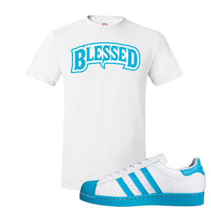 Adidas Superstar 'Aqua Toe' T Shirt | White, Blessed Arch