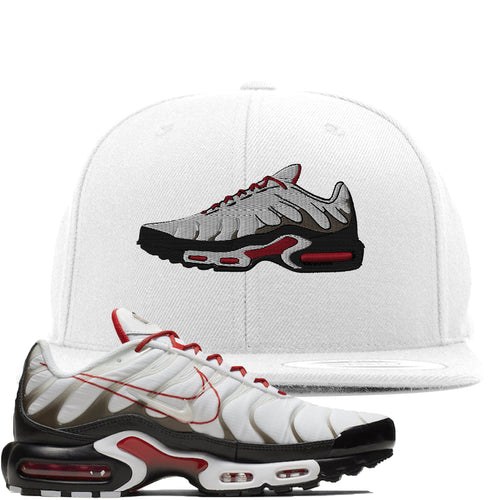 Nike Air Max Plus White University Red Sneaker Match Shoe white Snapback